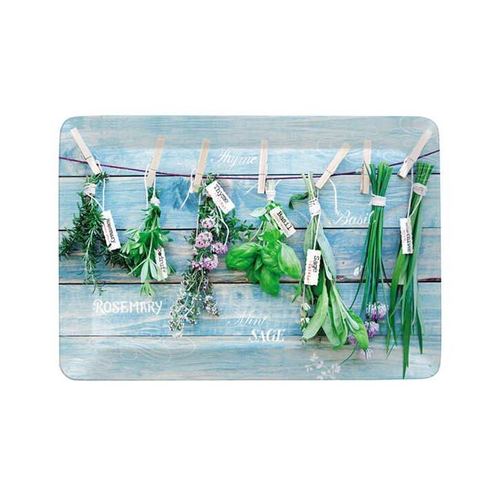 EASY LIFE Serviertablett Hanging Herbs (23 x 31 cm)