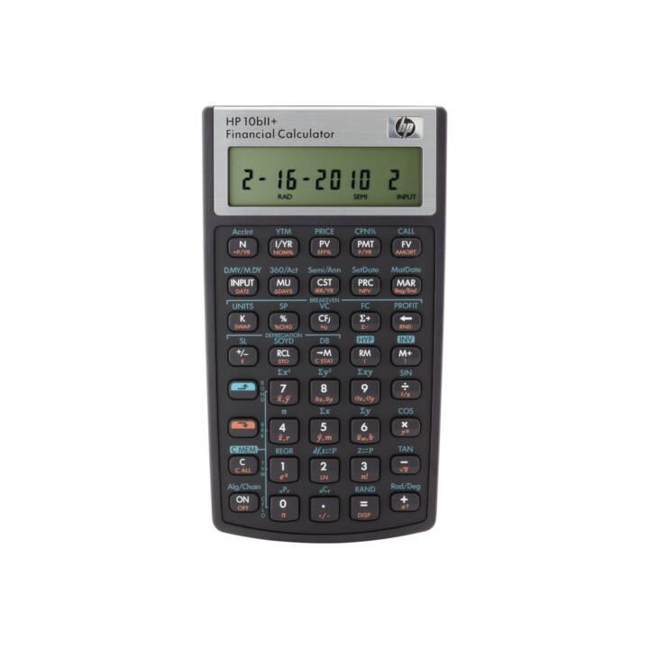 HP 10bII+ Finanzrechner (Standard Batteriebetrieb)