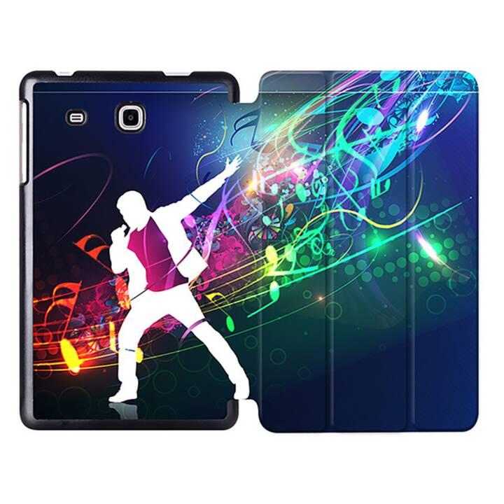 """EG MTT Sacoche à comprimés avec housse pliable Smart Foldable pour Samsung Galaxy Tab A6 7"""" A6 Tablet - Musique"""