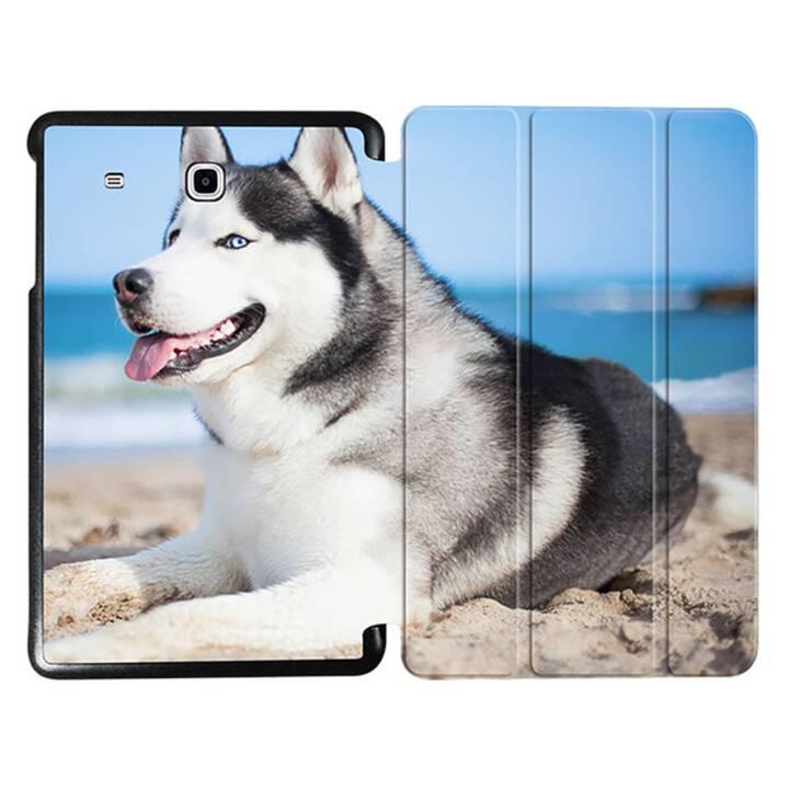 """EG MTT Tablet Tasche mit faltbarer Abdeckung für Samsung Galaxy Tab E 9.6 """"- Hund"""