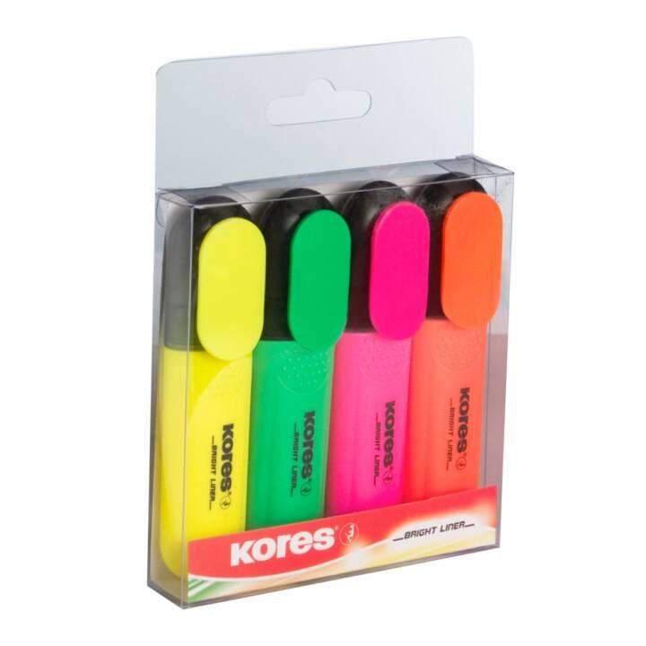 Set di evidenziatori BRIGHT LINER 4 colori