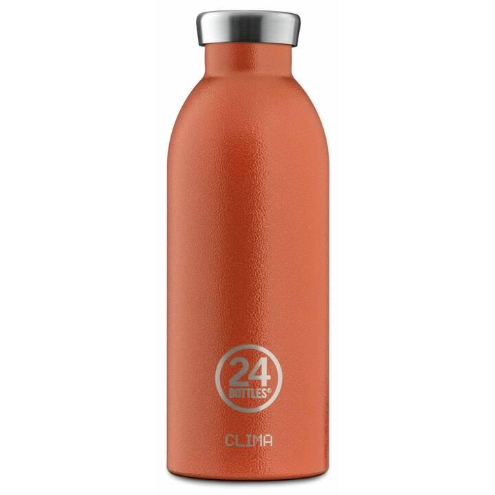 24BOTTLES Bottiglia sottovuoto Clima (0.5 l, Arancione, Argento)