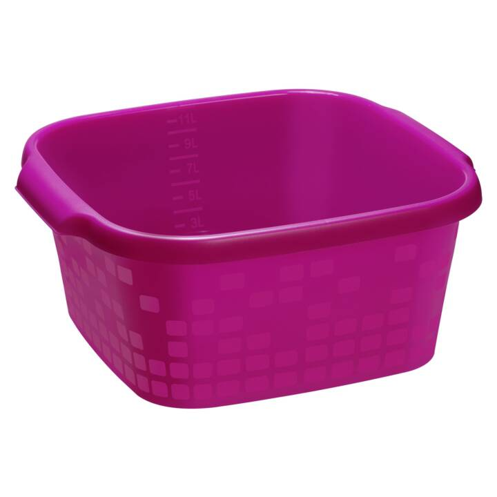 ROTHO Wäschekorb GEOMETRIC (12 l, Pink)
