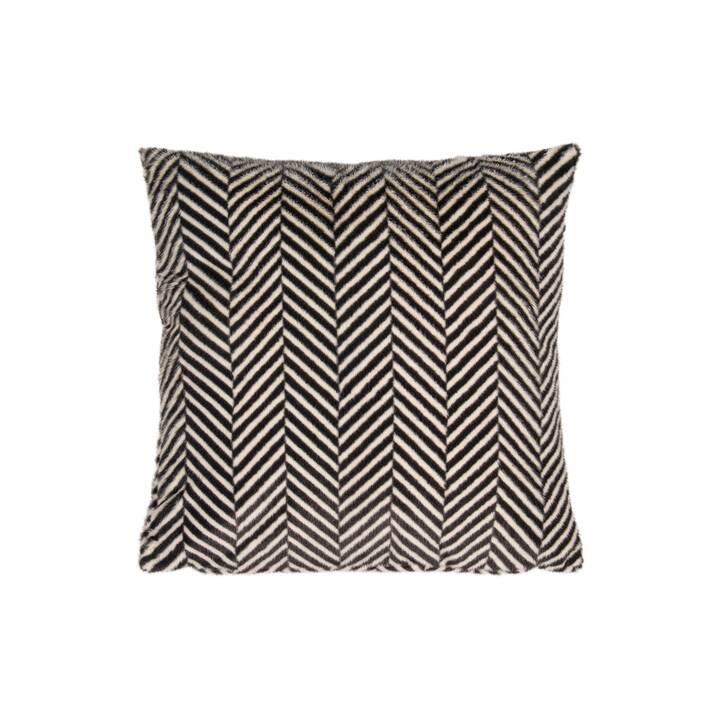 PAD Zella Coussin (50 cm x 50 cm, Noir, Blanc)