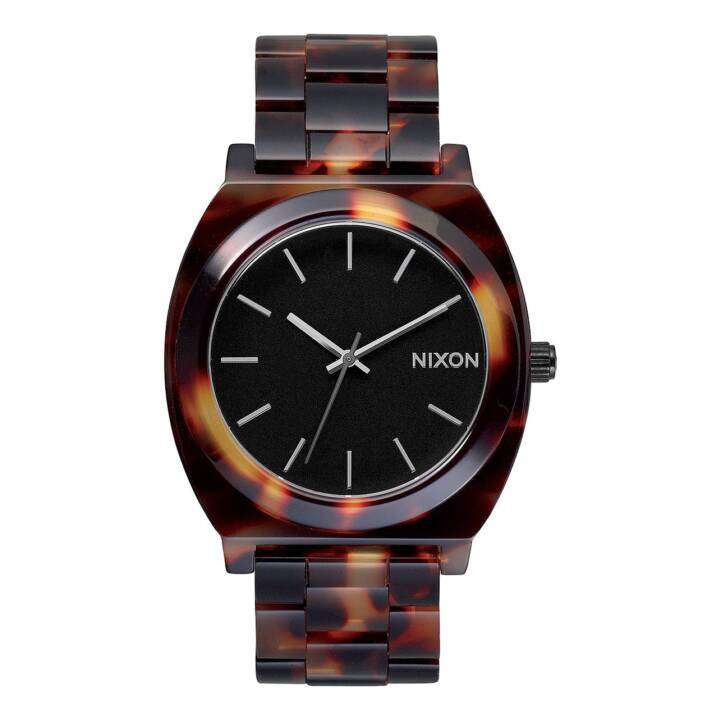NIXON Time Teller Acetate Tortoise (Analoguhr, 40 mm)