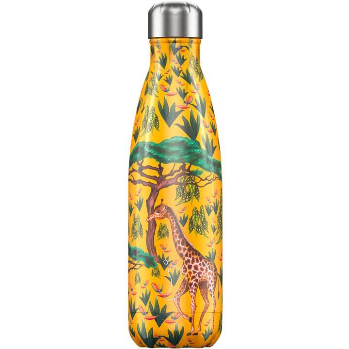 CHILLY'S Bottiglia sottovuoto Giraffe (500 ml, Multicolore)