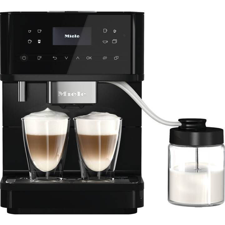 MIELE CM 6560 CH MilkPerfection (Noir obsidienne, 1.8 l, Machines à café automatique, 2 Tasses)