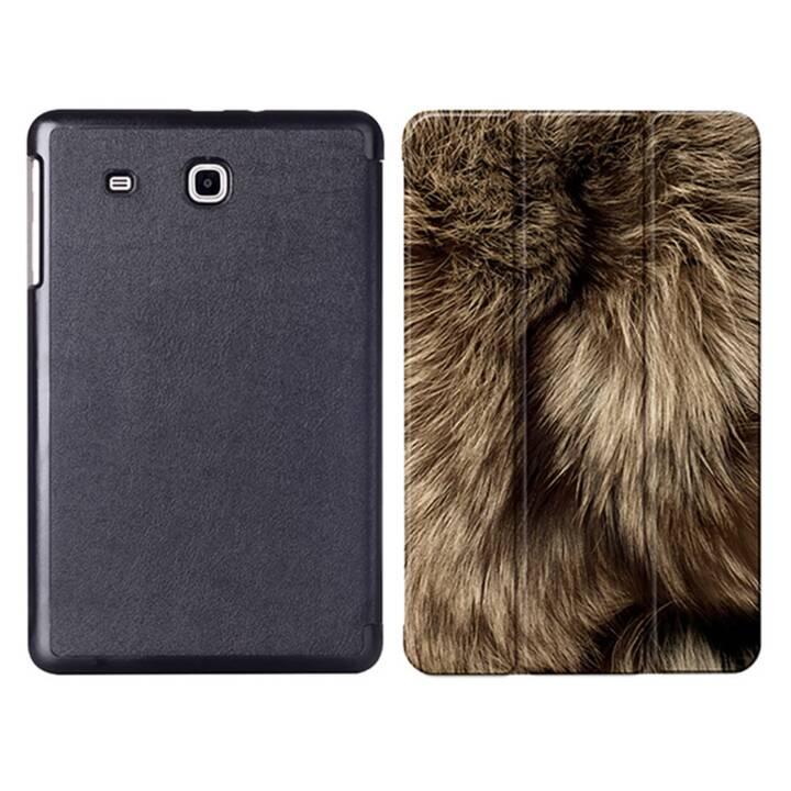 """EG MTT Sacoche à comprimés avec étui pliable pour Samsung Galaxy Tab E 9.6"""" - Peau d'animal"""