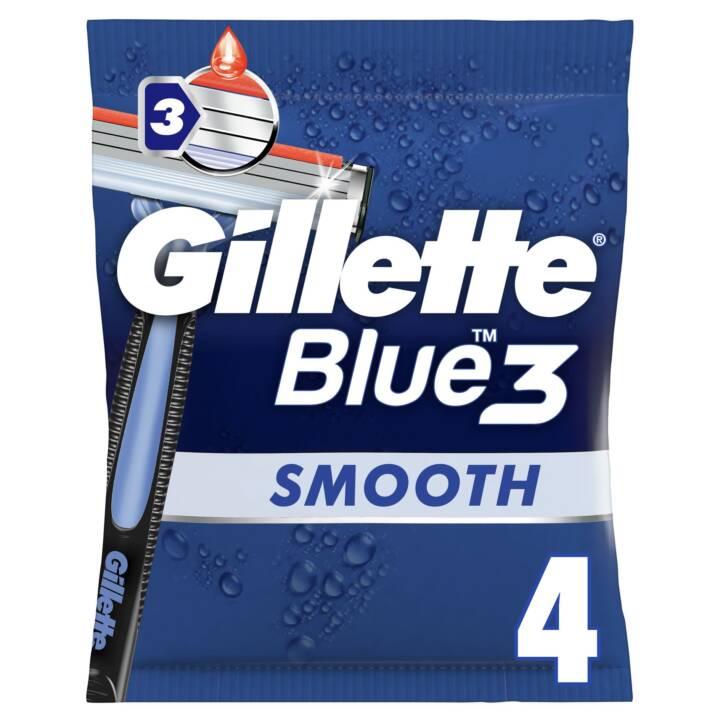 GILLETTE Blue 3 Smooth (4 pezzo, Rasoio usa e getta)