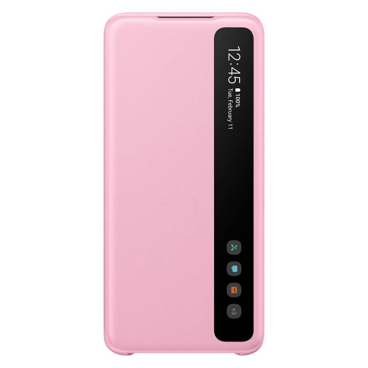 SAMSUNG Flipcover Clear View (Galaxy S20, Pink)
