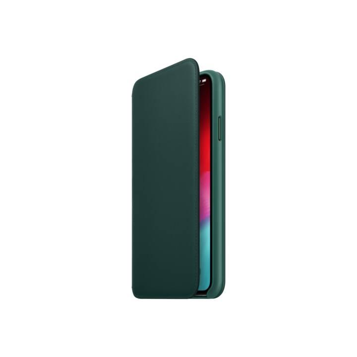 APPLE iPhone XS Max Max Folio en cuir, vert forêt