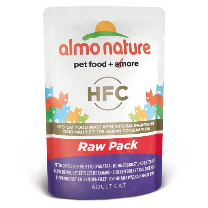ALMO NATURE HFC Raw Pack (Adulto, 55 g, Pollo, Anatra)