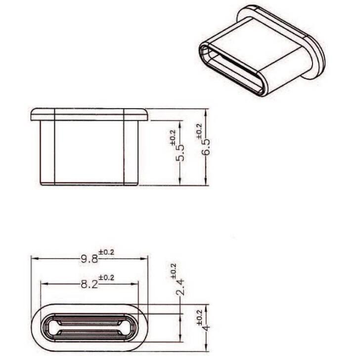 DELOCK 10 x USB-C Porto bloccante