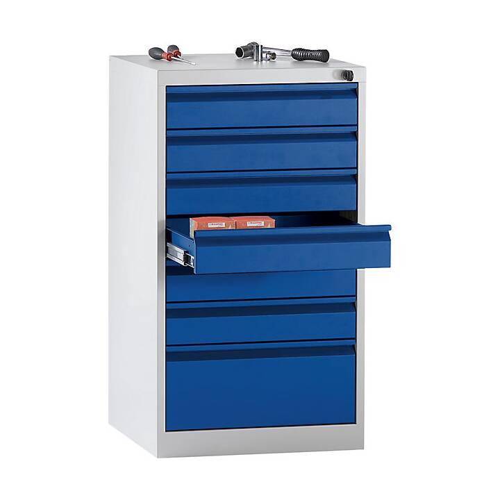 QUIPO Tiroir armoire (Bleu, Gris)