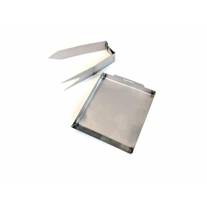 SCHWEIZER TASCHENGRILL 0.2 l Pentole per barbecue (Acciaio Inox)