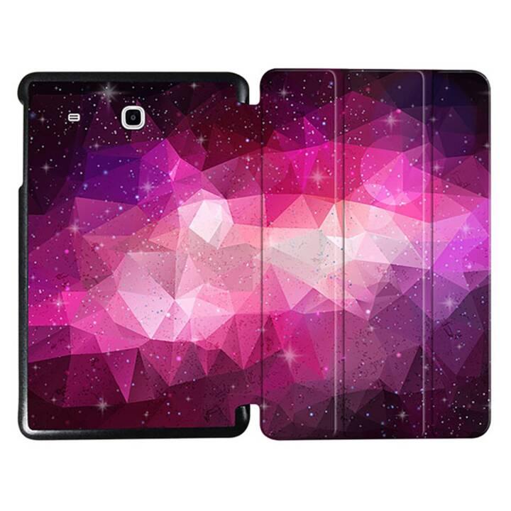 """EG MTT Sacoche à comprimés avec étui Smart pliable pour Samsung Galaxy Tab E 9.6"""" - Rose Tablette Rose Rose"""