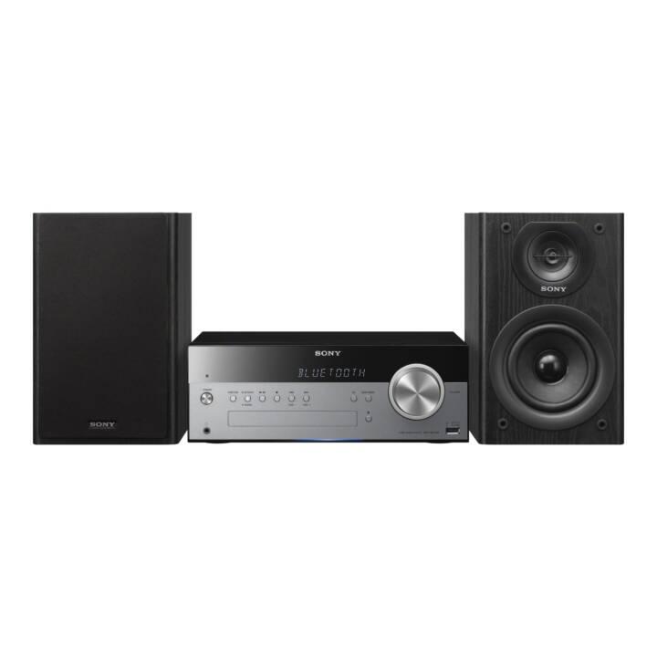 SONY Micro System CMT-SBT100B (Argento, Nero, NFC, Bluetooth, CD, Lettore esterno, Radio)