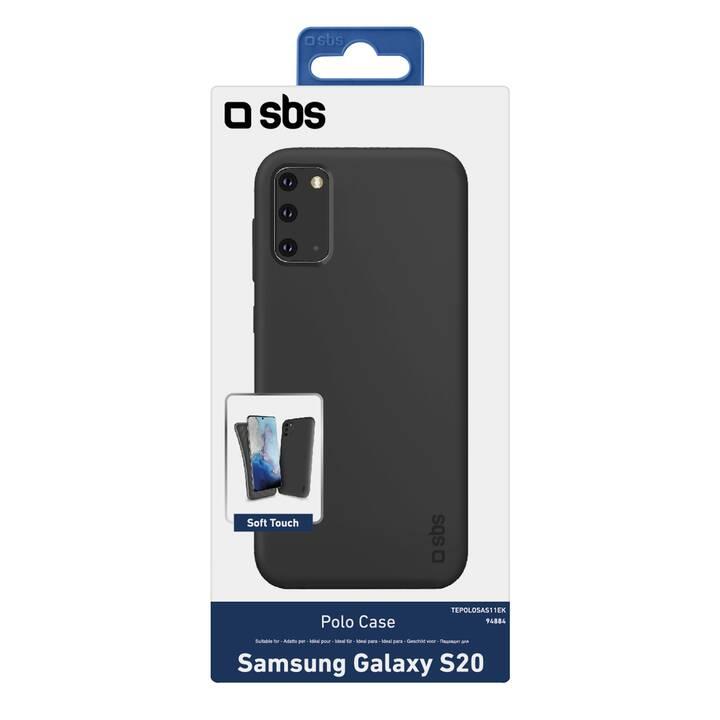 SBS Backcover Polo Case (Galaxy S20, Nero)