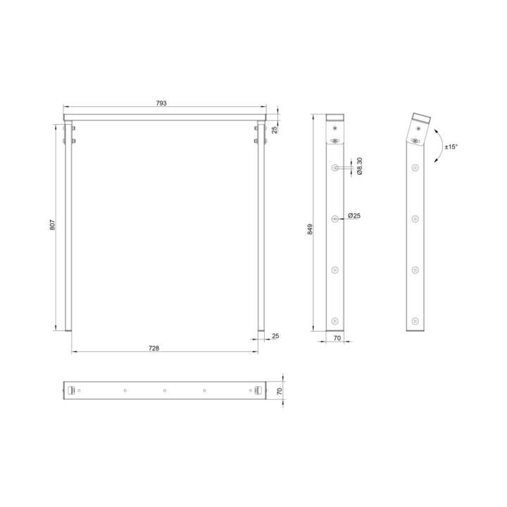 MULTIBRACKETS Accessori per il montaggio Ceiling Mount Pro OM55N-D (Soffitto)