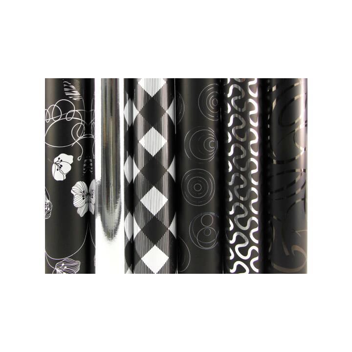 Papier d'emballage CLAIREFONTAINE 70x200cm noir/argent