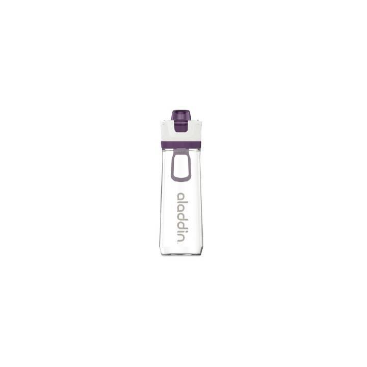 ALADDIN Sportflasche Active Hydration (0.8 l, Weiss, Transparent, Violett)
