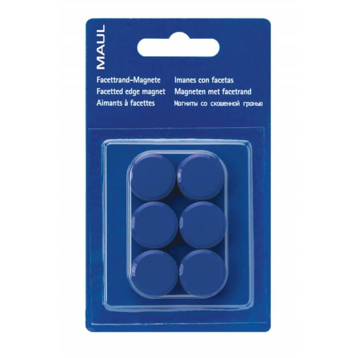 MAUL aimants 20x8 mm bleu 6 pièces