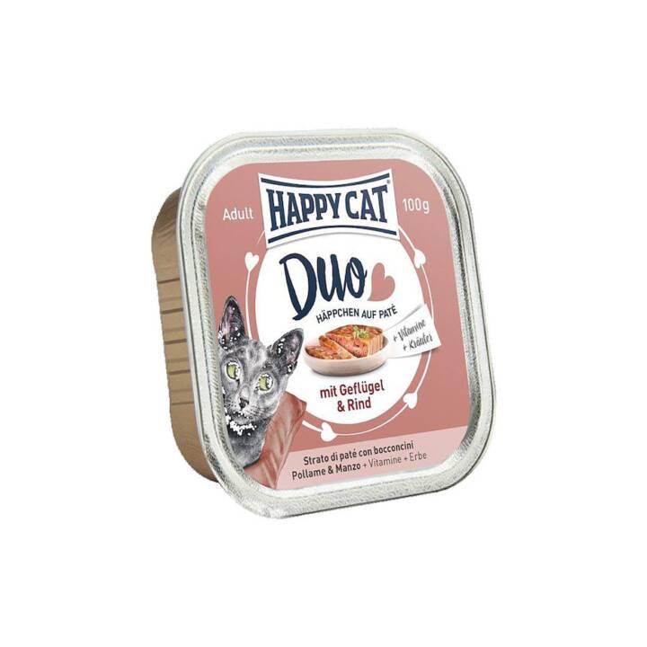 HAPPYCAT Duo (Adulto, 100 g, Pollame, Manzo)