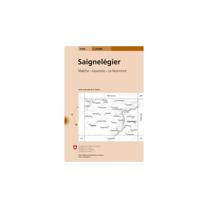 SWISSTOPO Landkarte Saignelégier 1:25'000