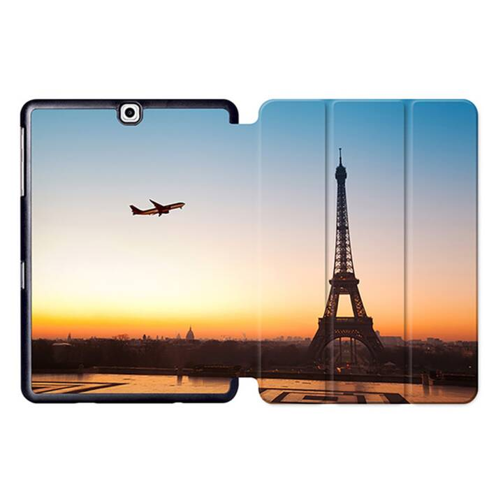 """EG MTT Sacoche pour tablette avec housse pliable Smart pour Samsung Galaxy Tab S2 9.7"""" MTT - Paysage"""