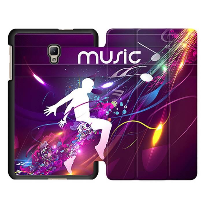 """EG MTT Sacoche à comprimés avec housse pliable Smart Foldable pour tablette Samsung Galaxy Tab A 8"""" (2017) - Musique"""