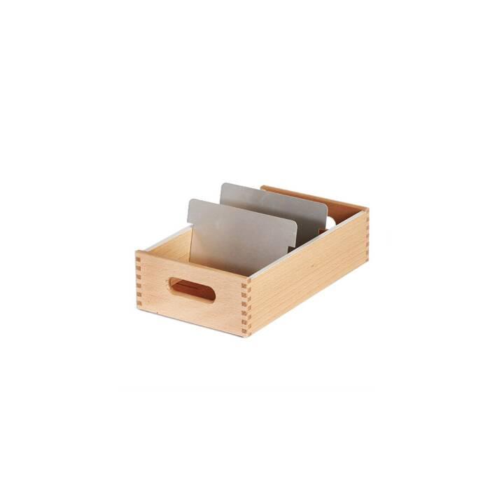 FLÜCK Karteikasten (A6, Braun, 1 Stück)