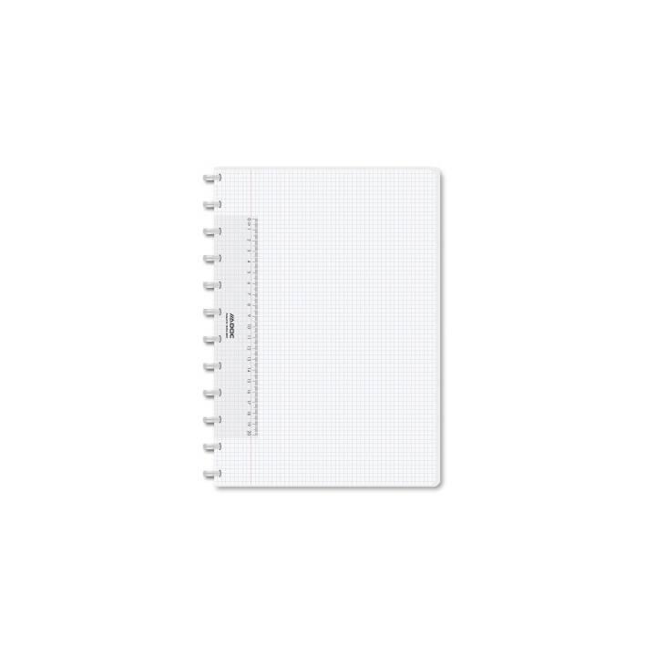 ADOC notebook A4 plaid trasparente