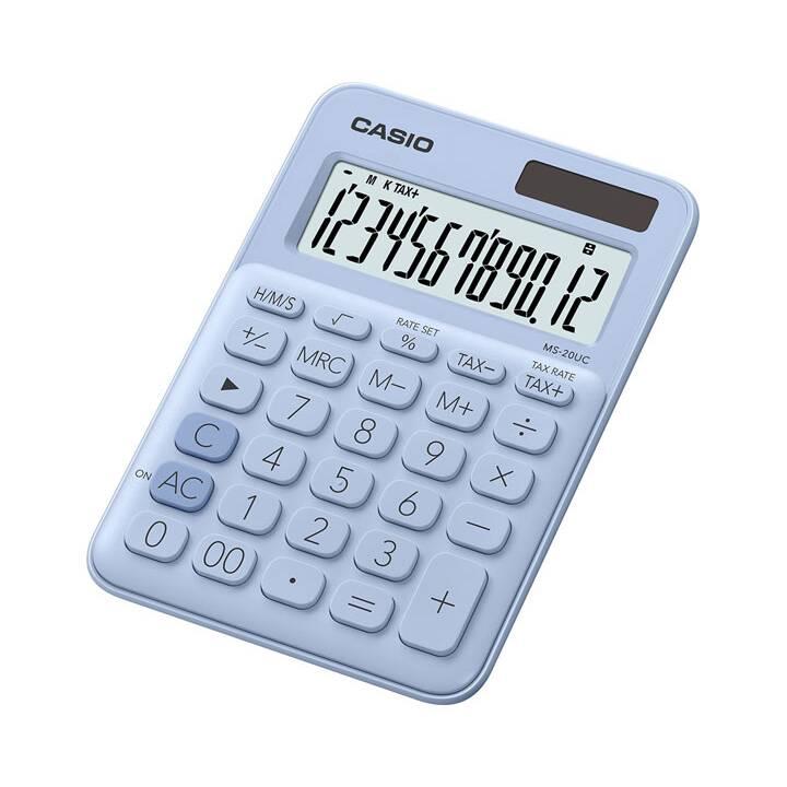 CASIO Mini Calcolatrici da tascabili (Funzionamento di batteria standard, Cellule solari)