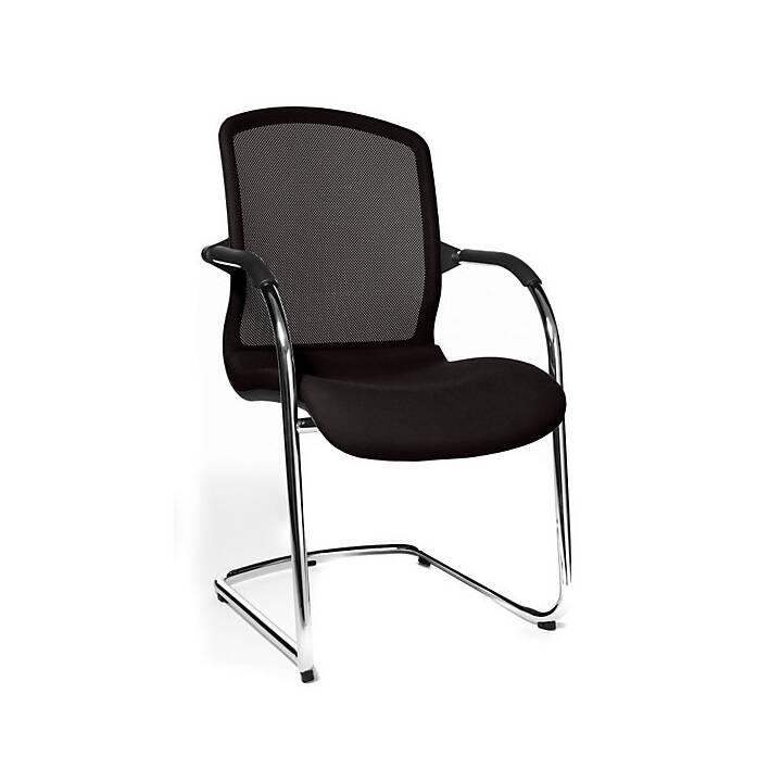 TOPSTAR Open Chair Konferenzstuhl (Chrom, Schwarz, 2 Stück)