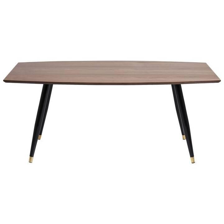 KARE Tavolo da pranzo Curve (180 cm x 90 cm x 76 cm, Marrone, Metallo)