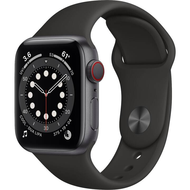 APPLE Watch Series 6 GPS + Cellular (40 mm, Alluminio, Silicone)