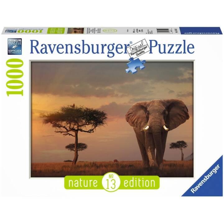 RAVENSBURGER Puzzle Elefant in Masai Mara National Park