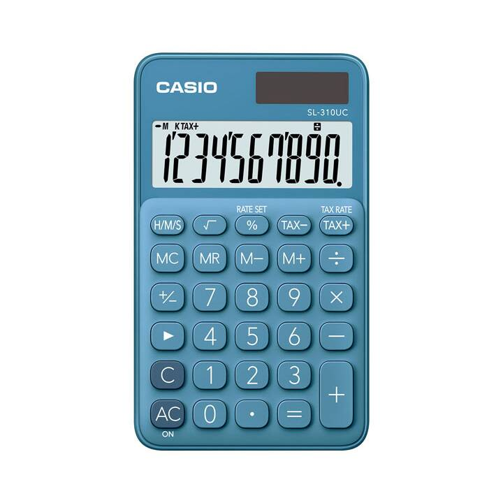 CASIO SL-310UC-BU Calculatrice de poche CASIO SL-310UC-BU Calculatrice simple Calculatrice de poche bleue