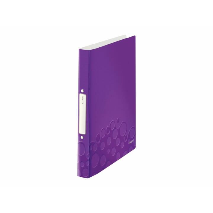 Reliure à anneaux LEITZ WOW A4 violet anneau 25 mm
