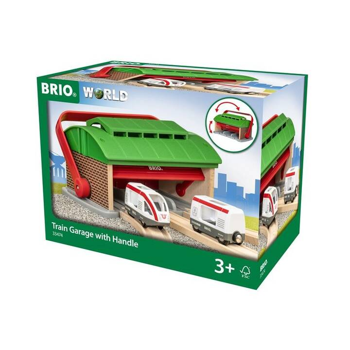 BRIO Train Garage with Handle