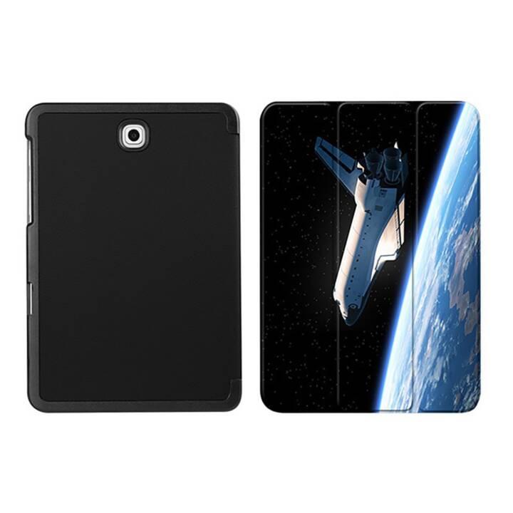 """EG MTT Housse tablette pour Samsung Galaxy Tab S2 8"""" - Vaisseau spatial"""