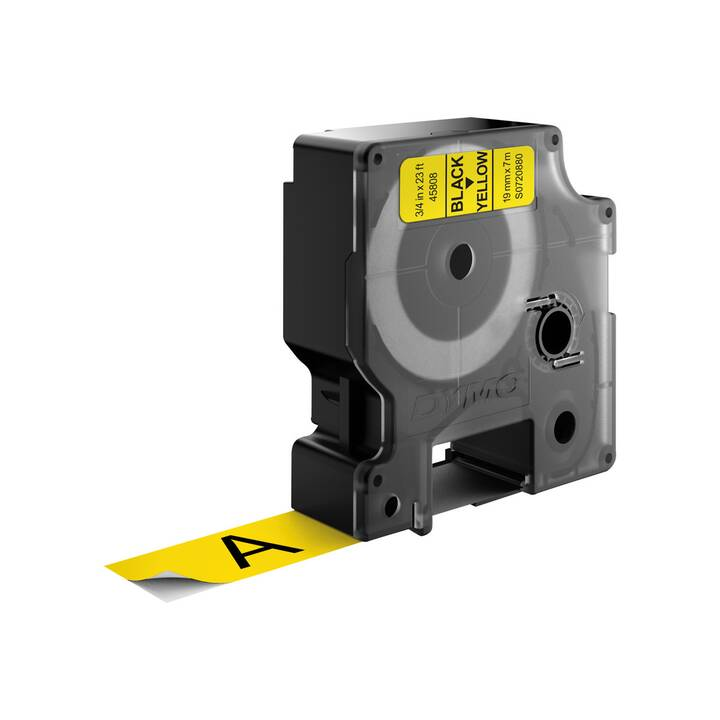 D1-TAPE 19MM X 7M BLACK ON YELLOW