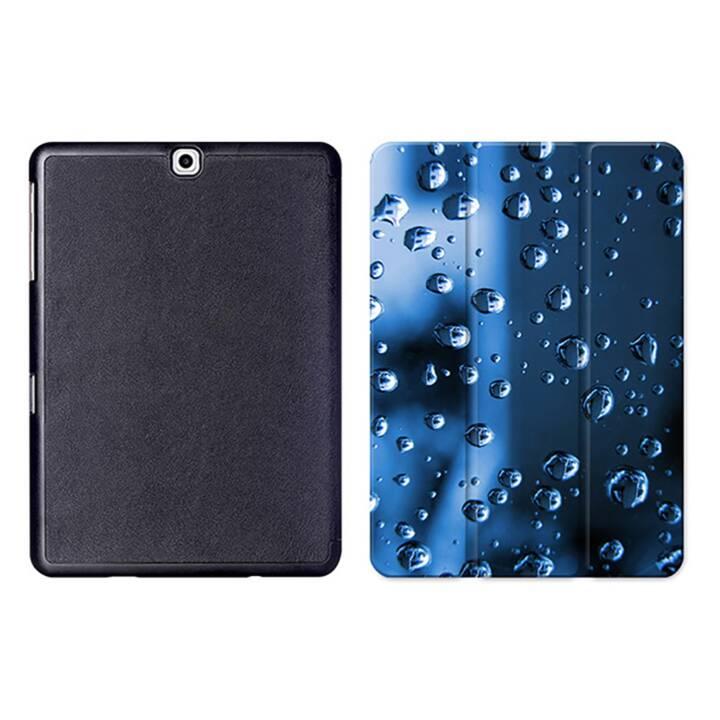 """EG MTT Sacoche à comprimés avec housse pliable Smart pour Samsung Galaxy Tab S2 9.7"""" MTT - Waterdrops"""