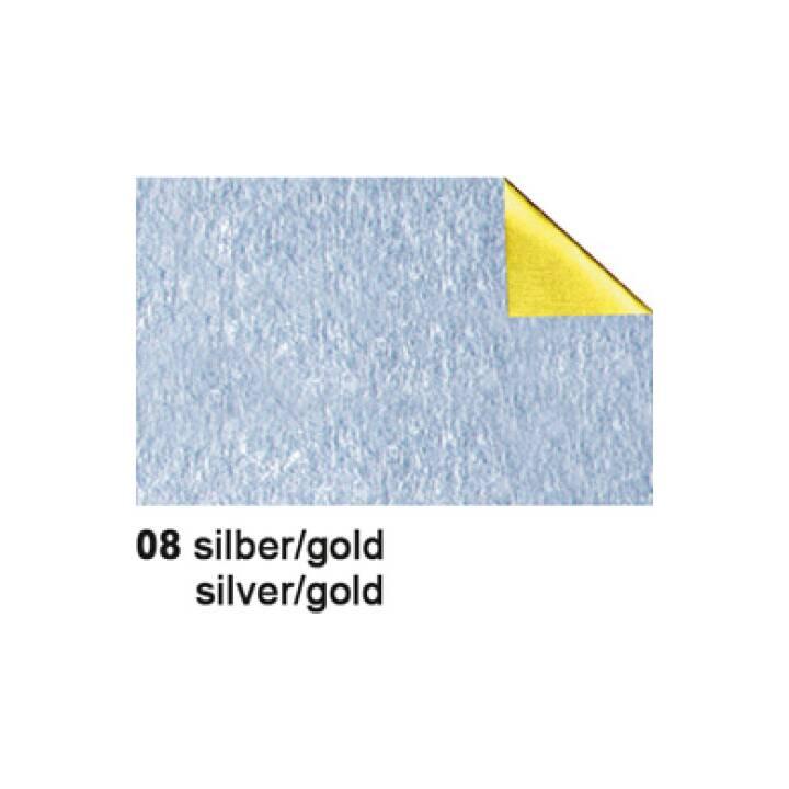 URSUS Bastelfolie Alu, 50x80cm, 90g/m2, silber/gold