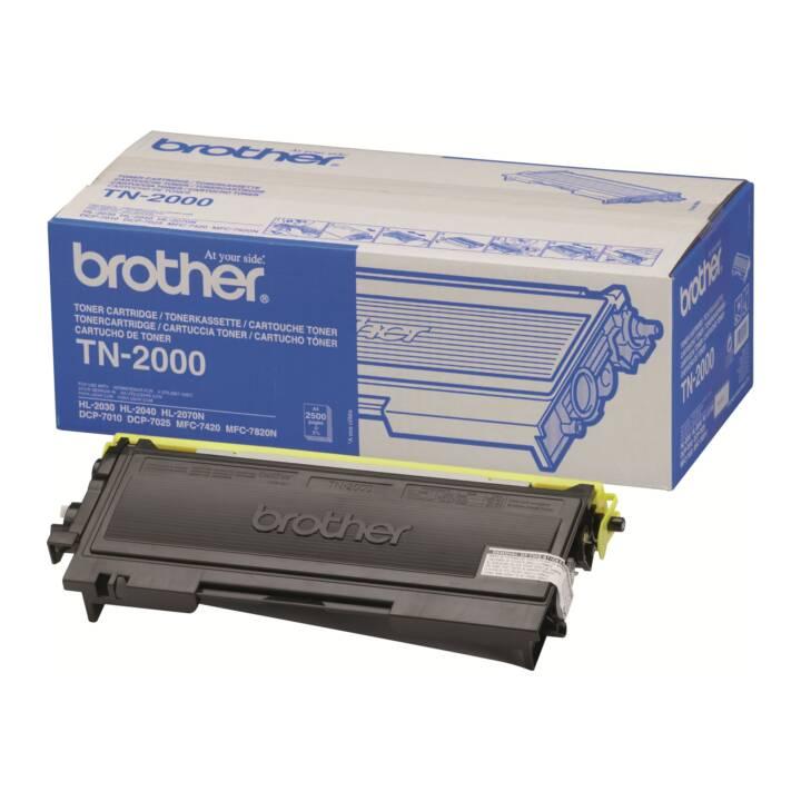 BROTHER TN2000  (Cartouche individuelle, Noir)