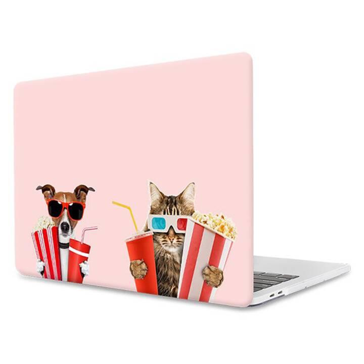 """EG MTT Housse pour ordinateur portable pour Macbook Pro 13"""" - Pink Funny Animals"""