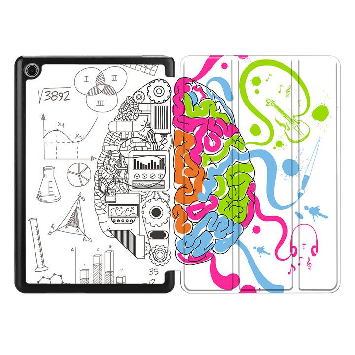 """EG MTT Coque pour HUAWEI MediaPad T5 10.1"""" 2018 - cerveau"""