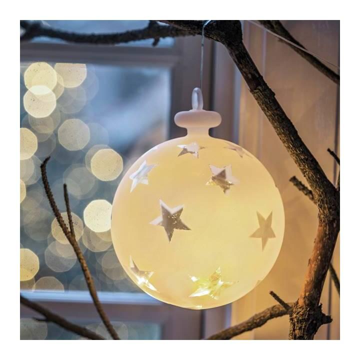 SIRIUS LED Weihnachtskugel Vega Sternmotiv 15cm