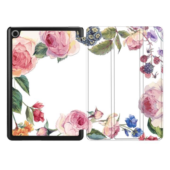 "EG MTT Coque pour HUAWEI MediaPad T3 10 9.6"" 2017 - Fleur"
