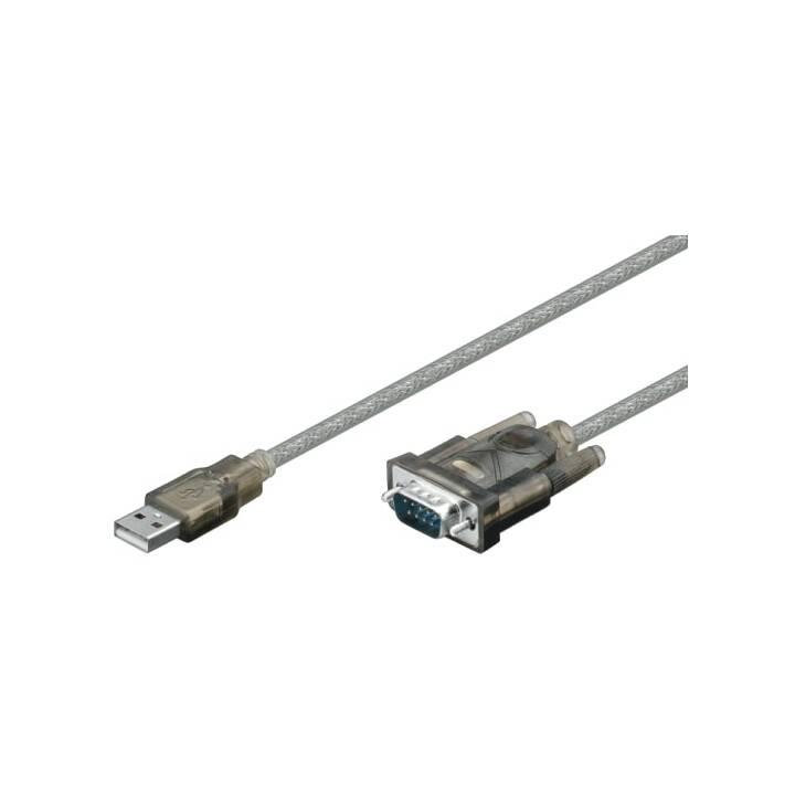 M-Cab USB 2.0 USB 2.0 Prise A vers prise série Adaptateur, transparent